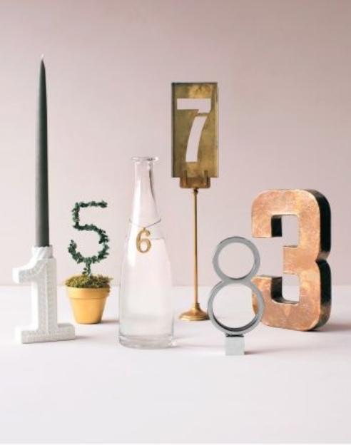 Números de mesa para tu boda