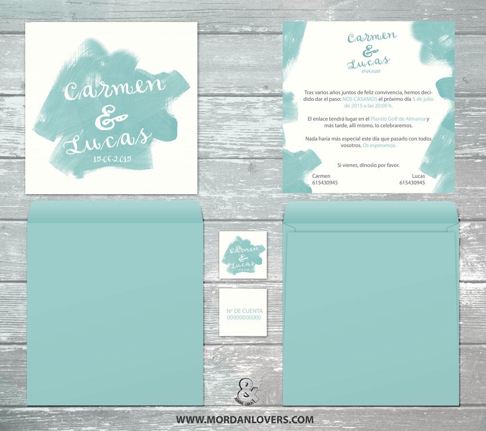 Invitaciones de boda originales. Tarjetones de boda