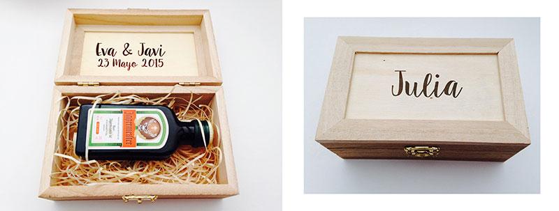 Cajas de licor personalizadas
