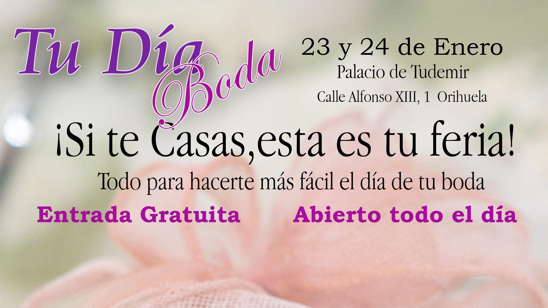 Certamen de bodas en Orihuela. 23 y 24 de enero.