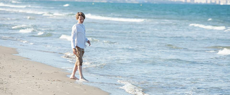 Fotos de comunión en la playa. Alicante