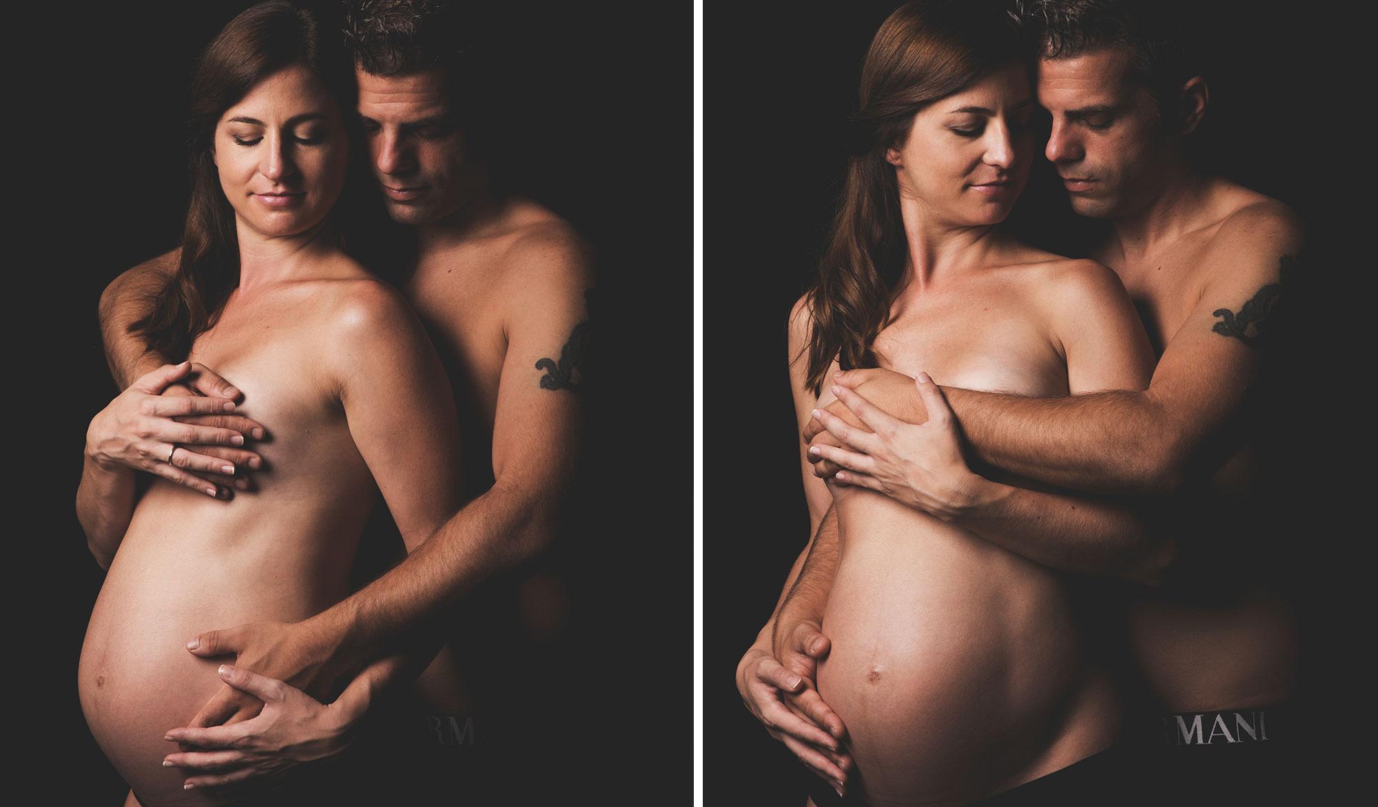 Sesión de embarazo en estudio.