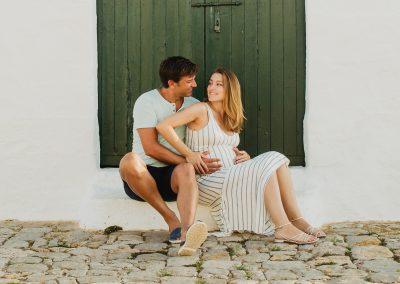 Fotos de embarazo en Menorca. Esperando a Marc
